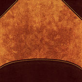 Background from brown leather cover — Stock Photo