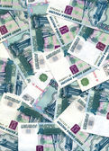 Background from one thousand russian ru — Stock Photo