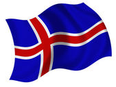 Flag of the Iceland — Stock Photo