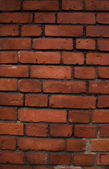 Structure of an old red brick wall — Stock Photo
