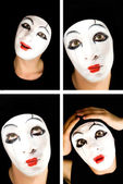 Portret of the mime — Foto de Stock