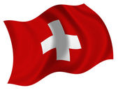 Flag of Swiss — Stock Photo