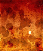 Cardboard in spots of a dirt and blood — Stock Photo