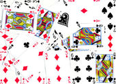 Playing Cards Background Design — Stock Photo
