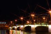 Bridge at nigt — Stock Photo