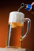 Beer in motion — Stock Photo