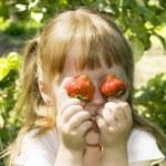 Strawberry Fun — Stock Photo