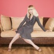 Young Woman on a sofa — Stock Photo #1597029