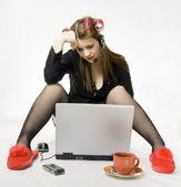 Telecommuting. — Stock Photo
