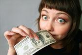 Money has no smell! — Stock Photo