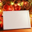 Christmas lights frame — 图库照片