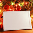 Christmas lights frame - Foto Stock