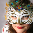 Woman Behind the Mask - Stock Photo