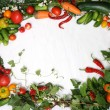 Frame Vegetables — Stock Photo