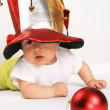 Small boy in the hat of jester — Stock Photo #1612940