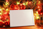 Christmas lights frame — Stock fotografie