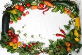 Frame Vegetables — Stock Photo