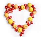 Romantic heart from apple — Stock Photo