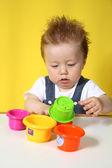Little boy plays — Stock Photo