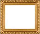 Empty Gold frame — Stock Photo