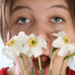 Allergy to the flowers — Stock Photo
