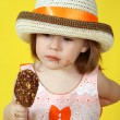 Girl with ice cream — Stock Photo #1624252