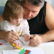 Father and daughter Drawing — Stock Photo #1698118
