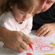 Father and daughter Drawing — Stock Photo #1698165