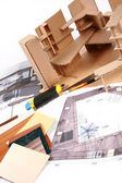 Workplace of designer — Stock Photo