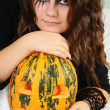 Gorgeous Halloween Girl — Stock Photo