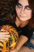 Gorgeous Halloween Girl — Stock Photo