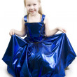 Stock Photo: Blue curtsy Princess.