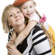 Mother and fun daughter. — Stock Photo