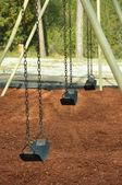 Empty swing set — Stock Photo
