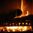 Royalty-Free Stock Photo: Fireplace closeup