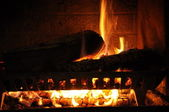 Fireplace closeup — Stock Photo