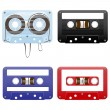 Stock Vector: Audio cassettes