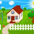 Vector de stock : Country house