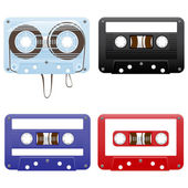 Audio cassettes — Stock Vector