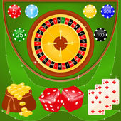 Elementos de casino — Vector de stock