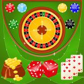 カジノの要素 — ストックベクタ