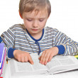 Stock Photo: Boy doing homework