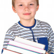 Boy with books — Stock fotografie