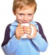 Boy with a cup — Stock Photo