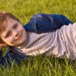 Boy on the grass — Stock Photo