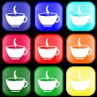 Royalty-Free Stock Vector Image: Icon of a cup on buttons