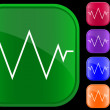 Vector de stock : Icon of electrocardiogram