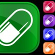 Vector de stock : Icon of medical capsule