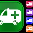 Medical ambulance icon — Vector de stock #1612774