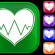 Icon of cardiogram — Stockvectorbeeld